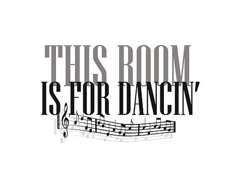 This Room Is For Dancin' 40x50cm Art Print