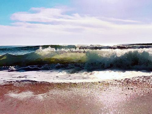 Aqua Blue 40x50cm Art Print