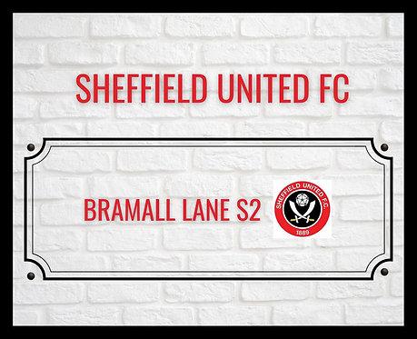 Sheffield United FC Brick Sign A4 Art Print