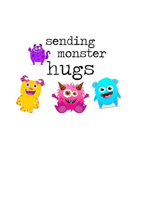 Sending Monster Hugs Greeting Card
