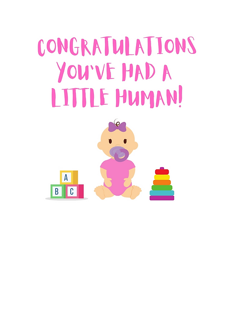 Congratulations You've Had A Little Human A5 Gloss Paper Magnet