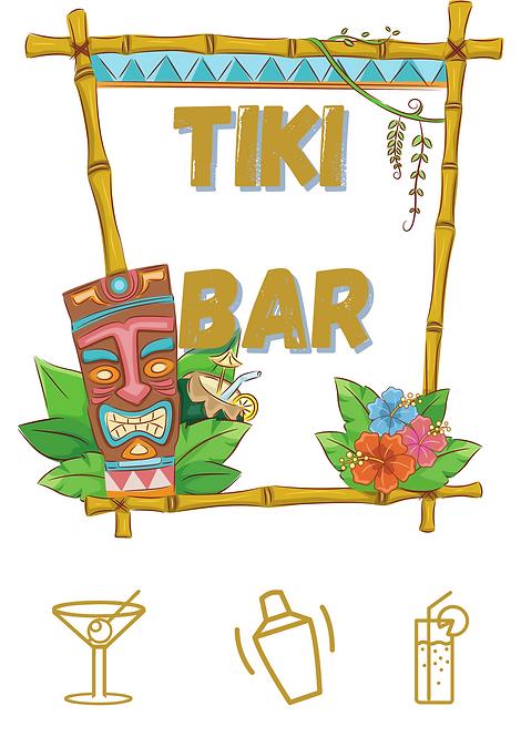 Tiki Bar A4 Gloss Magnetic Print