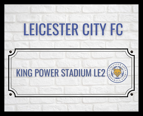 Leicester City FC Brick Sign 4x6 inches Art Print