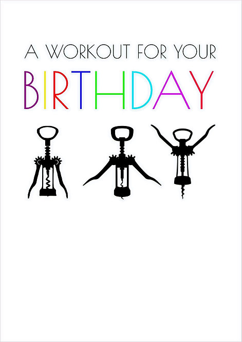 A Workout For Your Birthday Greeting Card