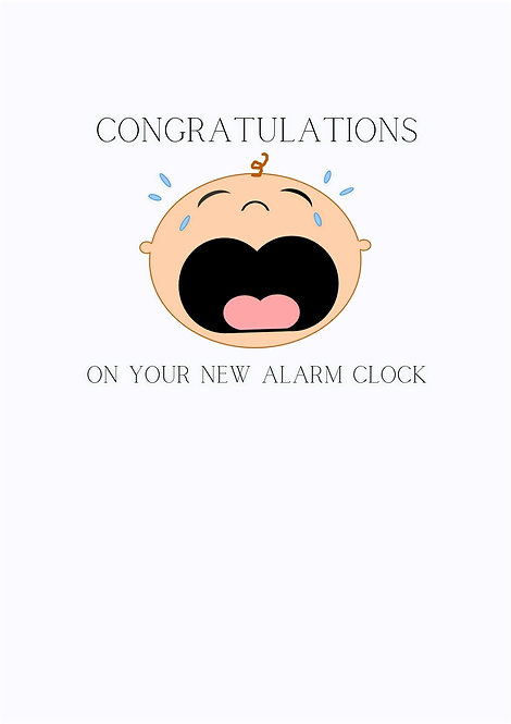 Congratulations On Your New Alarm Clock Greeting Card
