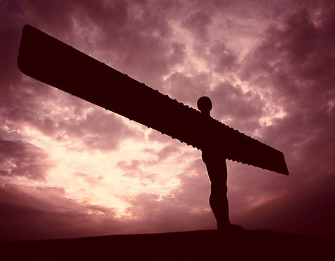 Angel Of The North 24x30cm Art Print