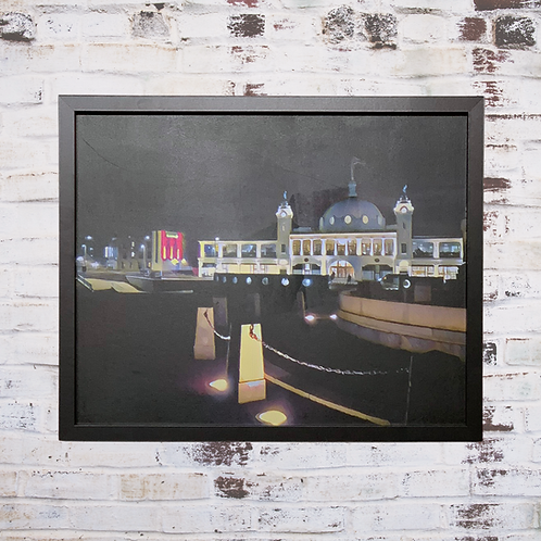 City Lights 40x50cm Framed Canvas