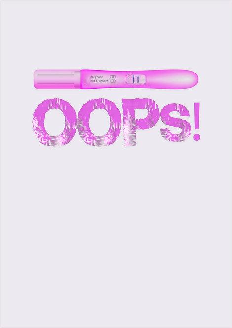 Oops! Pregnancy Greeting Card
