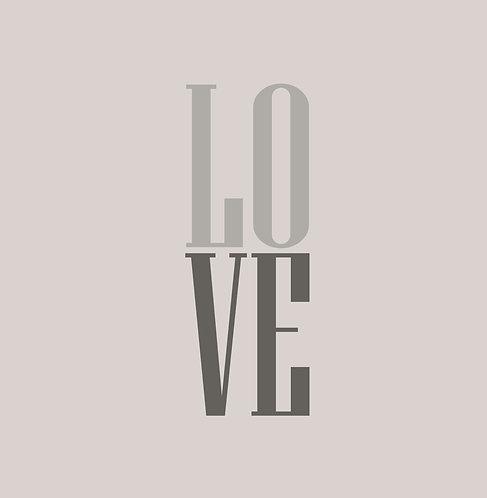 LOVE 30x30cm Art Print