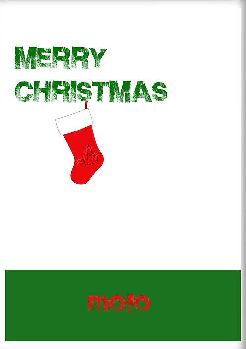 Merry Christmas MOFO Fridge Magnet