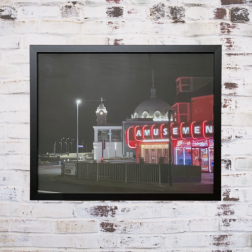 Night In The City 40x50cm Framed Canvas
