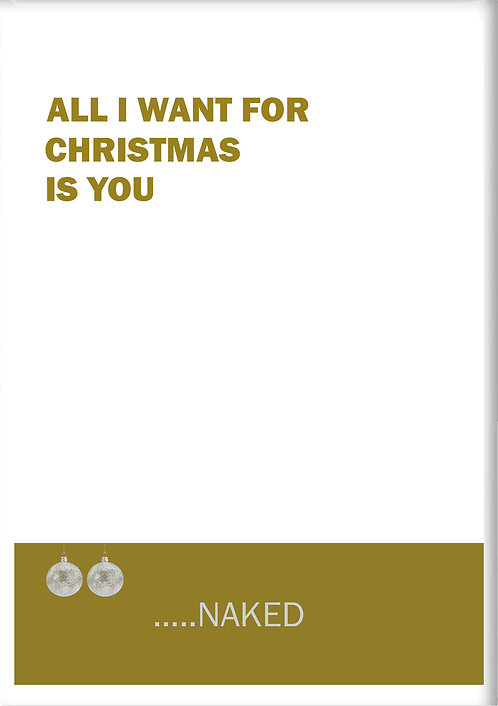 All I Want For Christmas Is You Naked Fridge Magnet