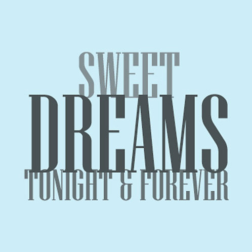 Sweet Dreams Tonight And Forever 30x30cm Art Print