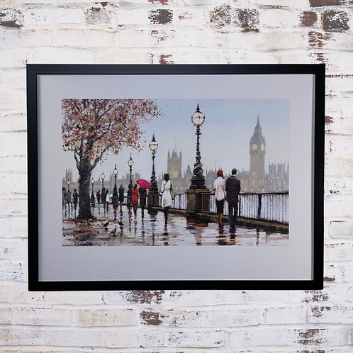 Thames View By Richard Macneil  In Oil Paint Effect