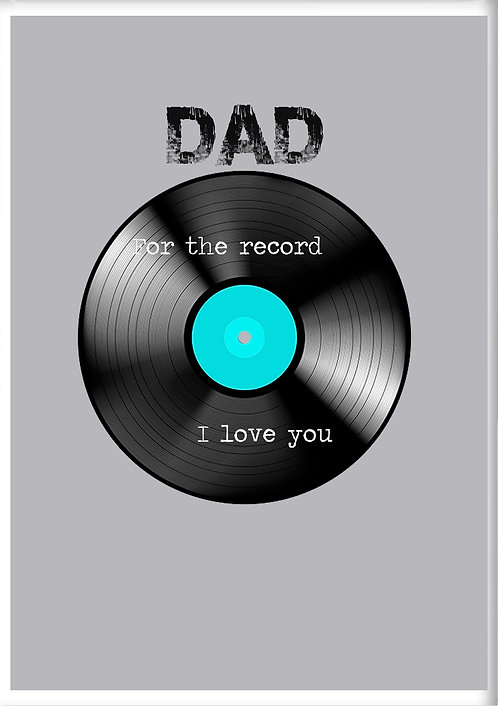Dad For The Record I Love You Fridge Magnet