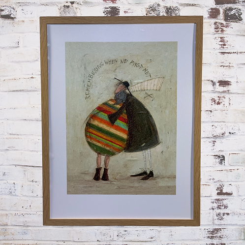 Remembering When We First Met By Sam Toft In Oil Paint Effect