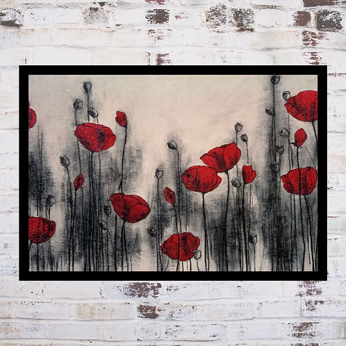 Red Poppies In Oil Paint Effect By Hans Andkjaer