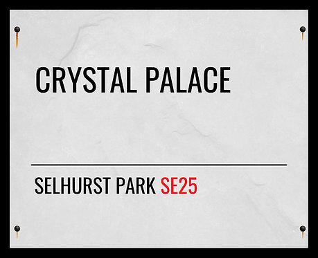 Crystal Palace FC Street Sign 24x30cm Art Print