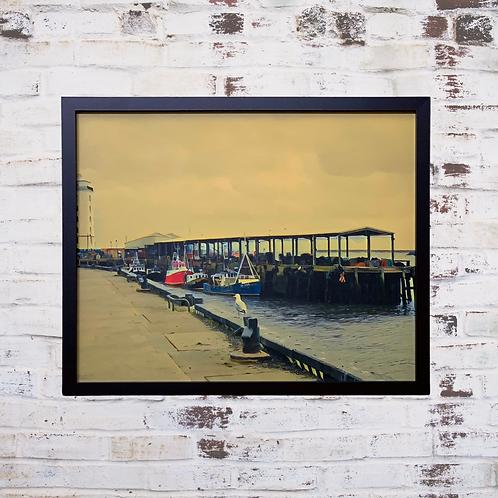 The Fish Quay North Shields 40x50cm Framed Canvas