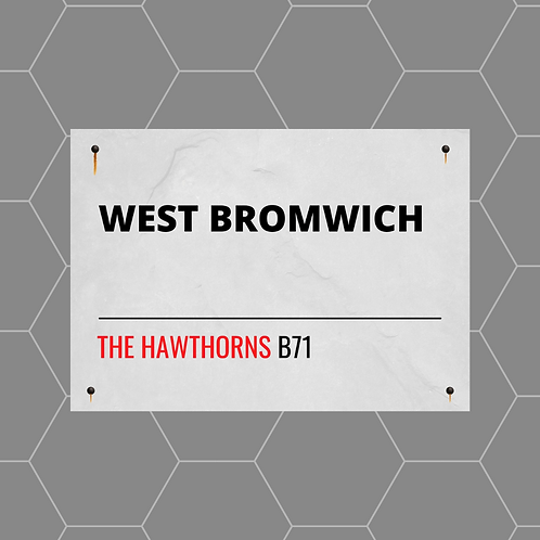 West Bromwich Street Sign A4 Gloss Paper Magnet