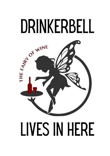 Drinkerbell The Fairy Of Wine Lives Here A4 Gloss Magnetic Print