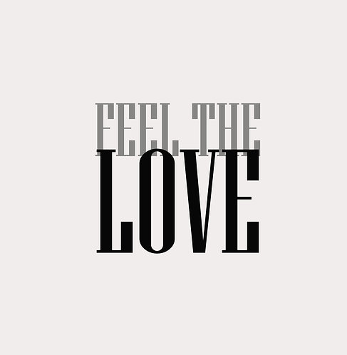 Feel The Love 30x30cm Art Print