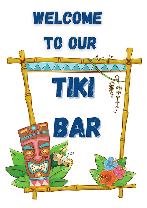 Welcome To Our Tiki Bar A6 Gloss Magnetic Print
