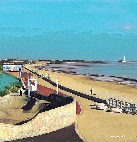 The Promenade 30x30cm Mounted Art Print