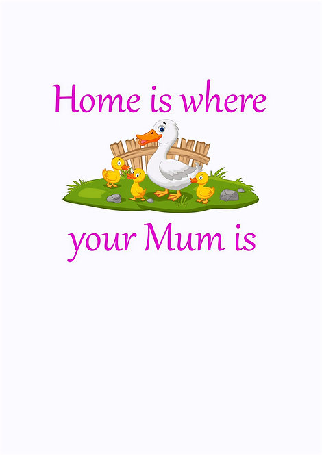 Home Is Where Your Mum Is Greeting Card