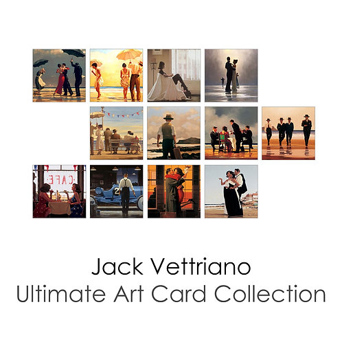 The Ultimate Jack Vettriano Art Card Collection Pack of 12 Cards