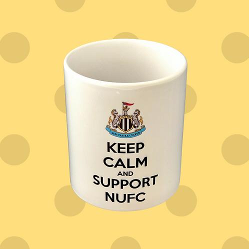 Keep Calm And Support NUFC Gift Mug