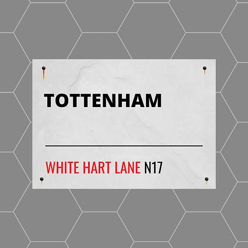 Tottenham Street Sign A4 Gloss Paper Magnet