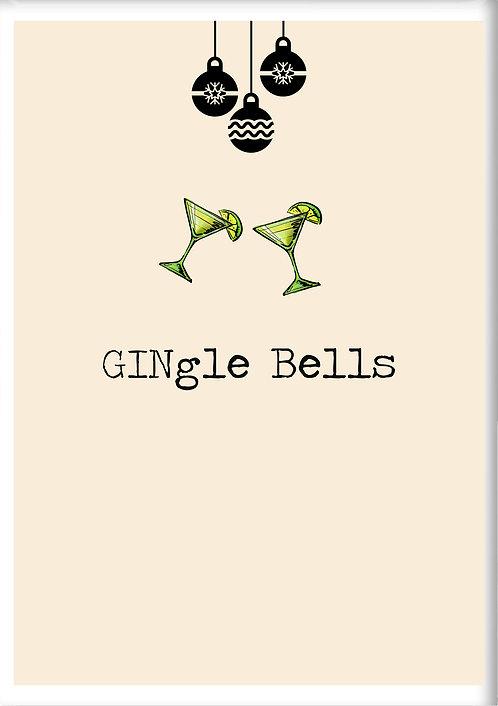 GINgle Bells Fridge Magnet