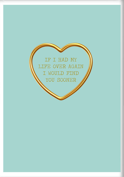 If I Had My Life Over Again I Would Find You Sooner Fridge Magnet