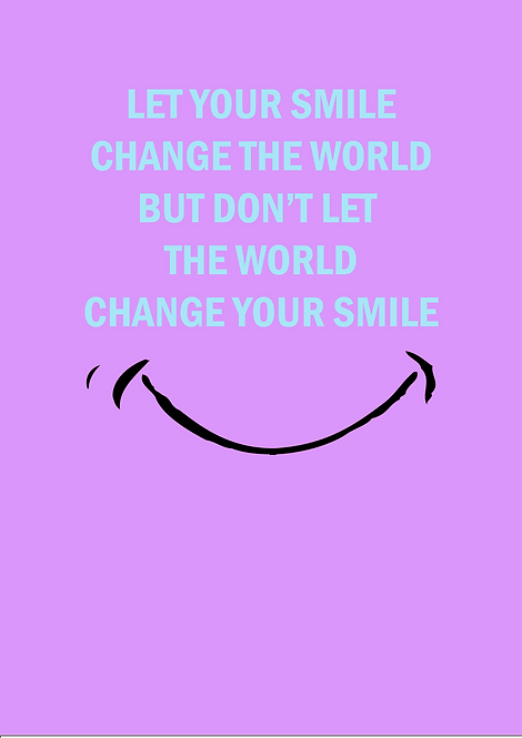 Let Your Smile Change The World A6 Gloss Paper Magnet