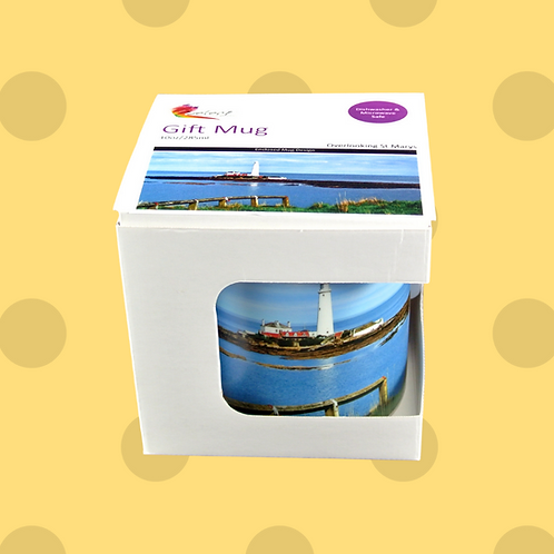 Over Looking St mary's Lighthouse Whitley Bay Gift Mug