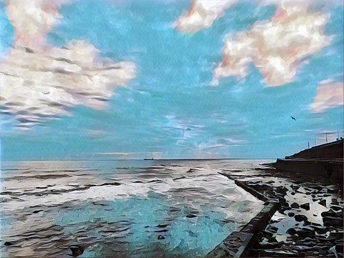 North Sea Jetty 40x50cm Art Print