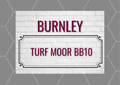 Burnley Brick Sign A4 Gloss Paper Magnet