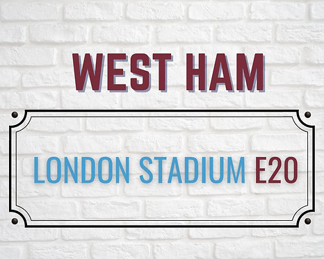 West Ham Brick Sign 24x30cm Art Print