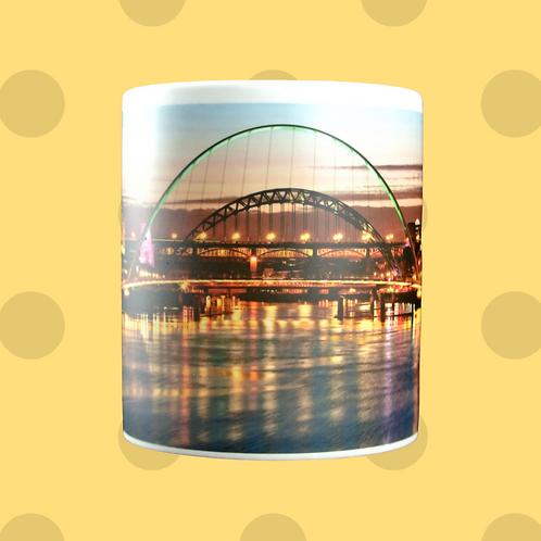 Tyneside Bridges At Night Gift Mug