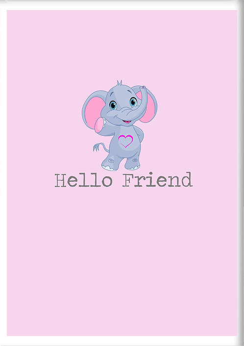 Hello Friend Fridge Magnet