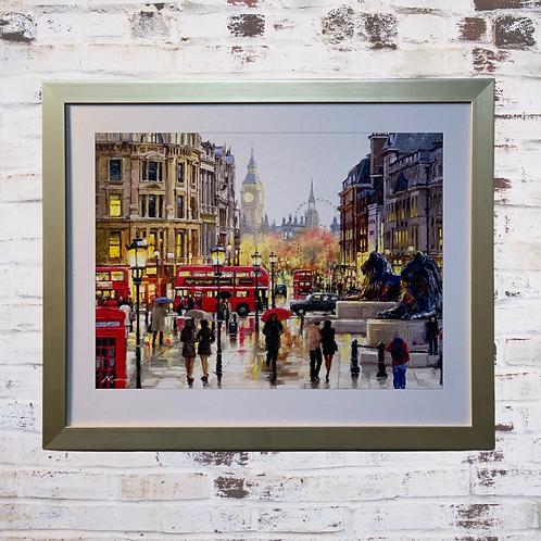 London Landscape By Richard Macneil  In Oil Paint Effect