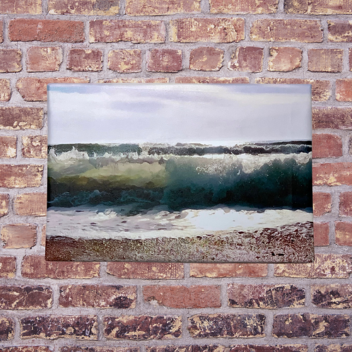 Grand Aqua Handmade Canvas