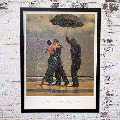 Dancer In Emerald Jack Vettriano In Oil Paint Effect