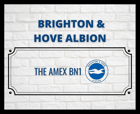 Brighton & Hove Albion Brick Sign 24x30cm Art Print