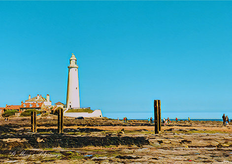 St Mary's Pilgrimage Whitley Bay Greeting Card