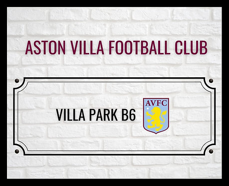 Aston Villa Football Club Brick Sign 40x50cm Art Print