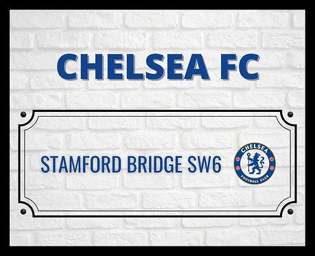 Chelsea FC Brick Sign 4x6 inches Art Print