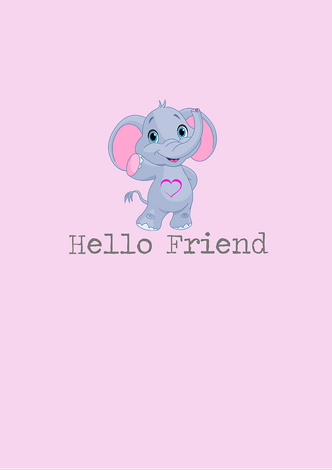 Hello Friend A5 Gloss Paper Magnet