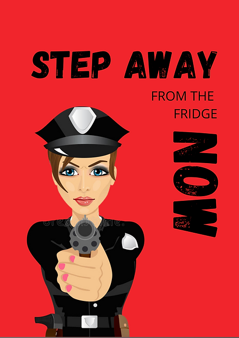 Step Away From The Fridge Now A5 Gloss Paper Magnet